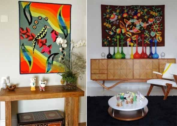 Decoração com tapeçarias nas paredes 004