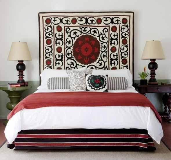 Decoração com tapeçarias nas paredes 007
