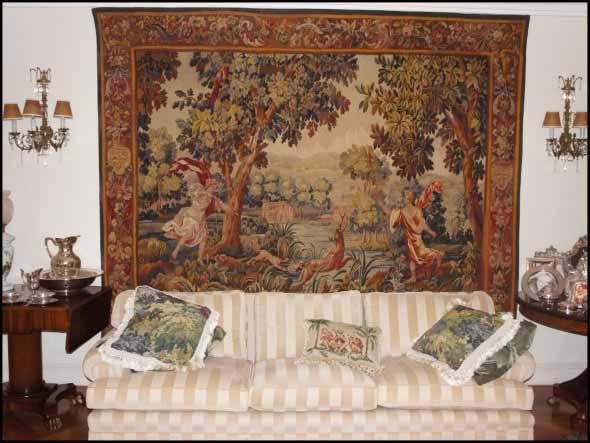 Decoração com tapeçarias nas paredes 011