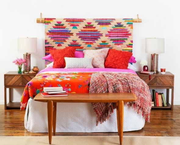 Decoração com tapeçarias nas paredes 016