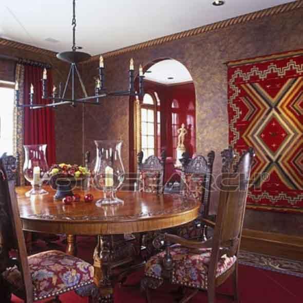 Decoração com tapeçarias nas paredes 018