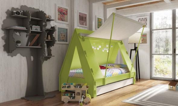 Decoração criativa no quarto das crianças 006