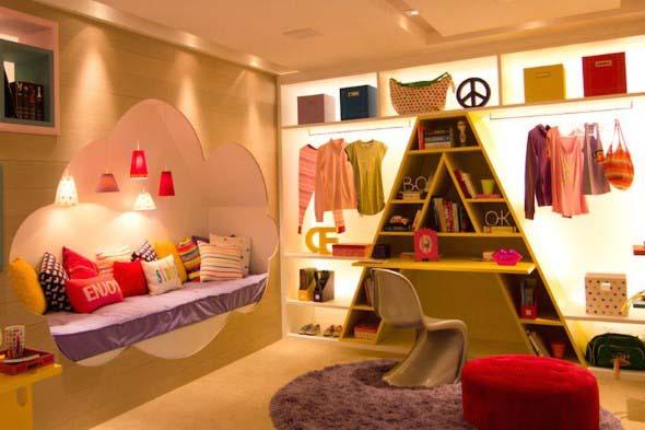 Decoração criativa no quarto das crianças 011