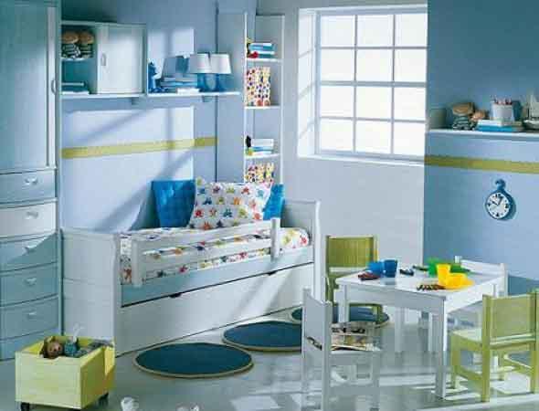 Decoração criativa no quarto das crianças 012