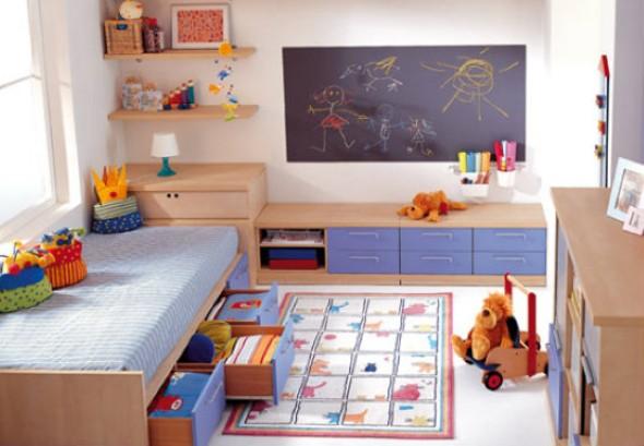 Decoração criativa no quarto das crianças 014