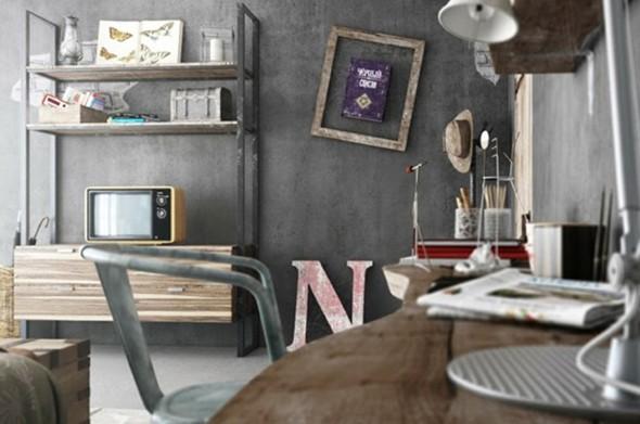 Visual industrial na decoração 010