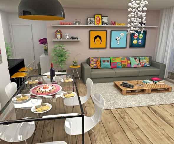 25 ideias de decora o com quadros para sua casa for Decoracion casa 90m2