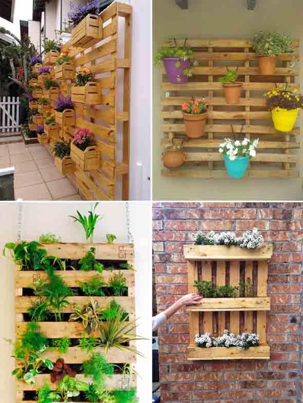 Aprenda a fazer um jardim vertical com paletes 004