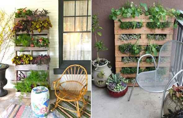 Aprenda a fazer um jardim vertical com paletes 005