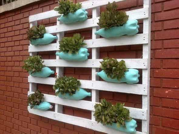 Aprenda a fazer um jardim vertical com paletes 008