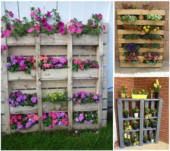 Aprenda a fazer um jardim vertical com paletes 011