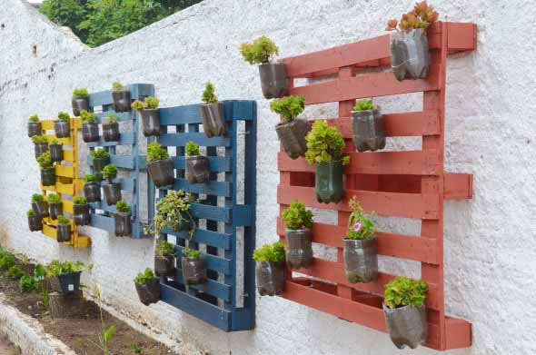Aprenda a fazer um jardim vertical com paletes 014