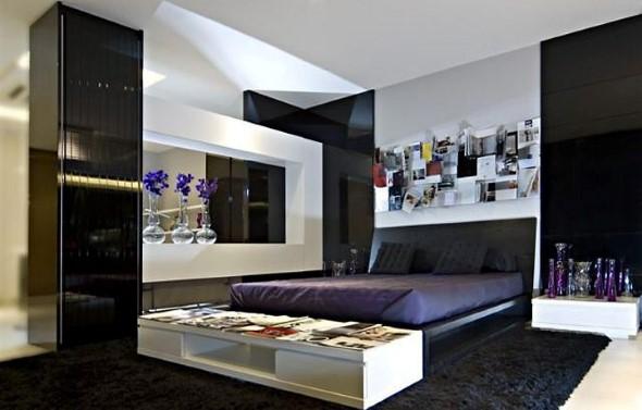 Decoração preto e branco no quarto 007