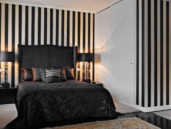 Decoração preto e branco no quarto 009