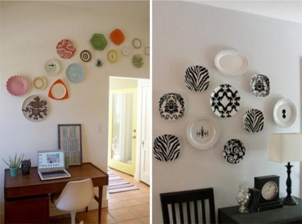 Ideias Para Sala De Estar Baratas ~ 38 Ideias criativas e baratas para decorar parede (sem tinta)