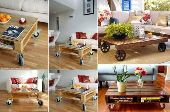 20 modelos de mesas feitas com paletes e caixotes de feira for Ideas decorativas para patios