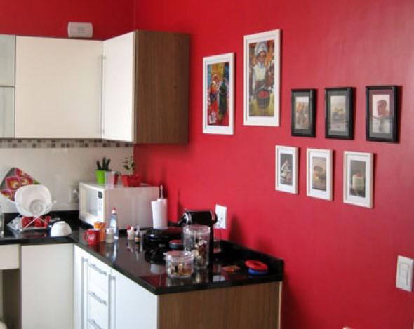Quadros na decoração da cozinha 004