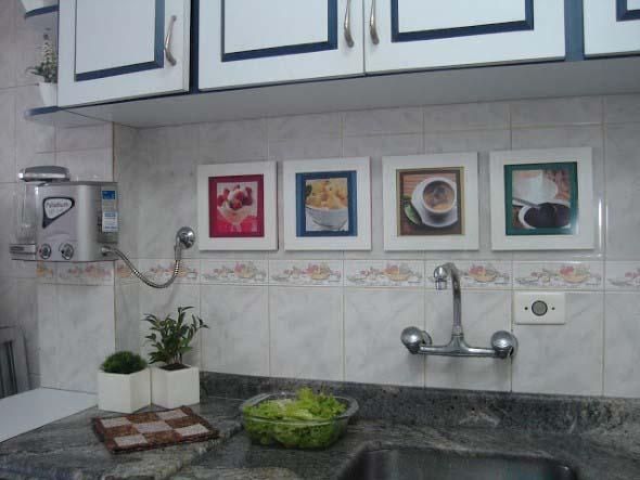 Quadros na decoração da cozinha 005