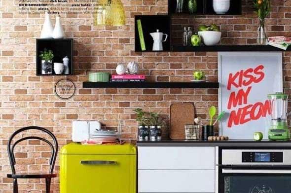 Quadros na decoração da cozinha 008