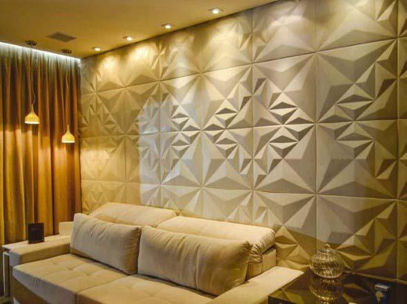 Revestimento em alto relevo 3D para parede