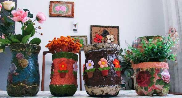 17 Modelos de vasos artesanais para decoração 005