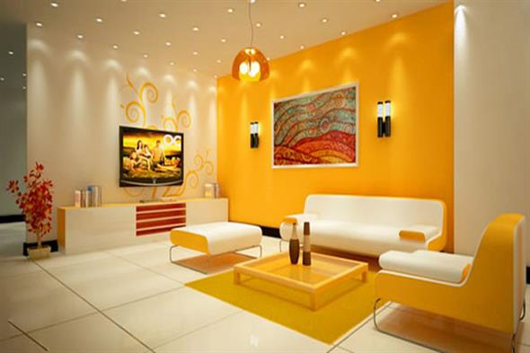 Amarelo na decoração 018