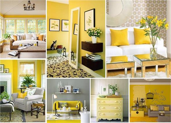 Amarelo na decoração 020