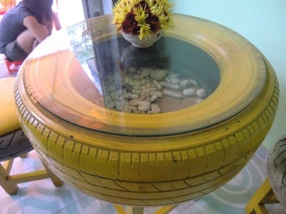 Como fazer uma mesa com pneu usado 001