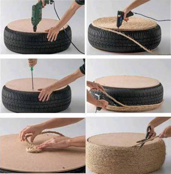 Como fazer uma mesa com pneu usado 006