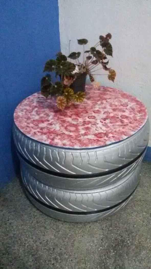 Como fazer uma mesa com pneu usado 015