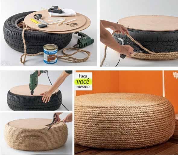 DIY Puff artesanal decorativo 002