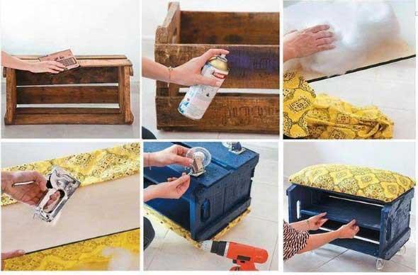 DIY Puff artesanal decorativo 007