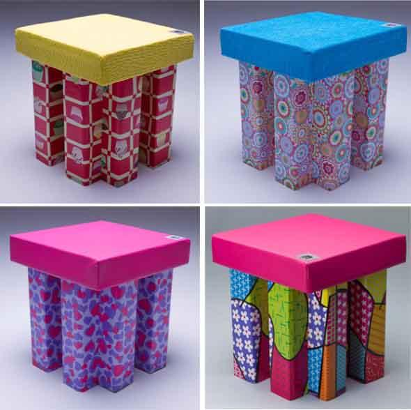 DIY Puff artesanal decorativo 008