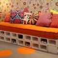 Móveis feitos com blocos de concreto 001