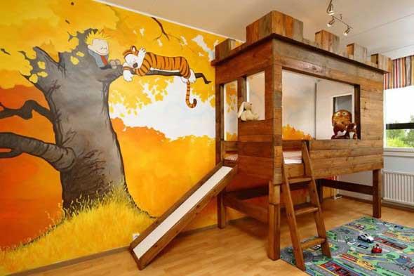 Pintura divertida no quarto das crianças 004