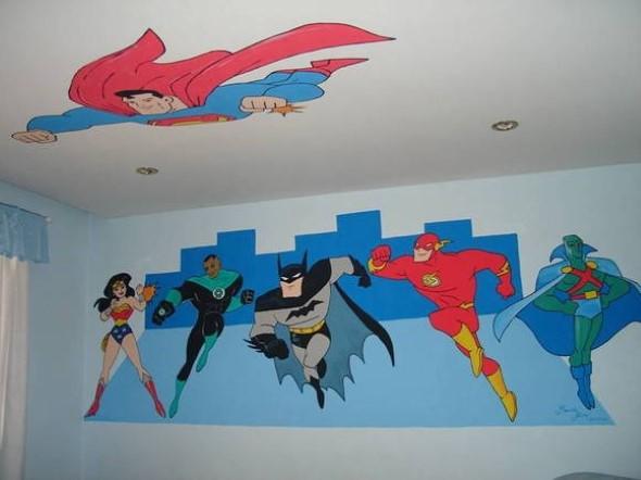 Pintura divertida no quarto das crianças 009