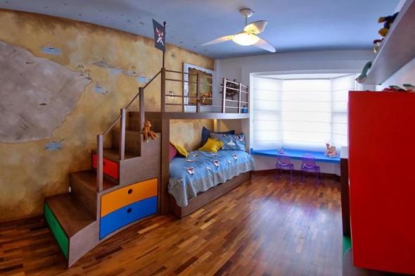 Pintura divertida no quarto das crianças 018