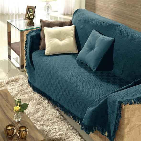 Combinações de almofadas e mantas na decoração 002