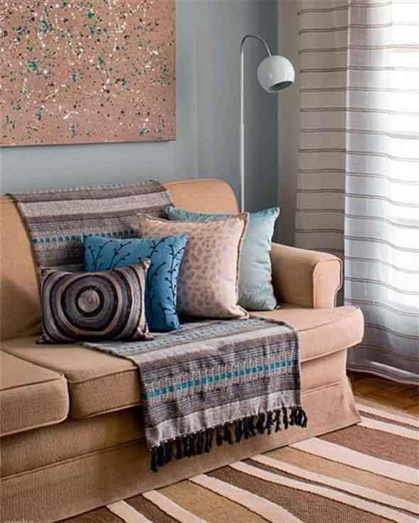 Combinações de almofadas e mantas na decoração 013