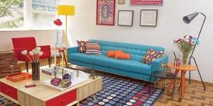 Decorar a sala de estar com um visual descontraído 001
