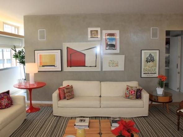 Decorar a sala de estar com um visual descontraído 003
