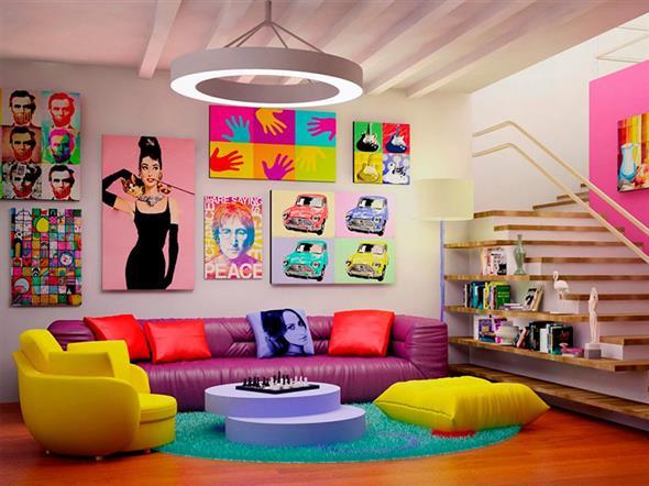 Decorar a sala de estar com um visual descontraído 008