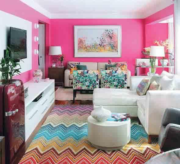 Decorar a sala de estar com um visual descontraído 010