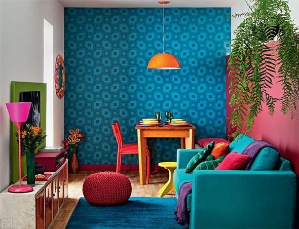 Decorar a sala de estar com um visual descontraído 012