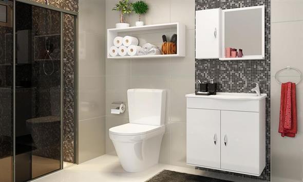 Prateleiras e nichos para banheiro 001