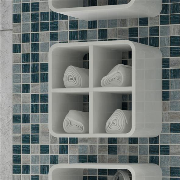 Prateleiras e nichos para banheiro 007