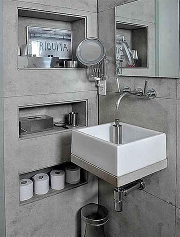 Prateleiras e nichos para deixar seu banheiro mais organizado -> Nicho Retangular Banheiro
