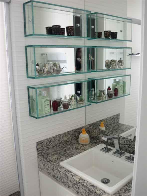 Prateleiras e nichos para banheiro 009