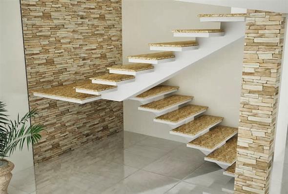 22 modelos de escadas interna lindas e criativas for Modelos de escaleras internas para casas