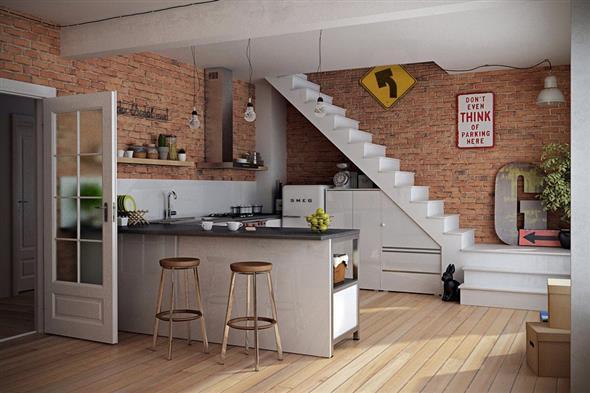 Modelos de escada interna 022